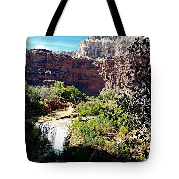 Fifty Falls And Havasupai Falls Havasupai Indian Reservation Tote Bag by Joseph Hendrix