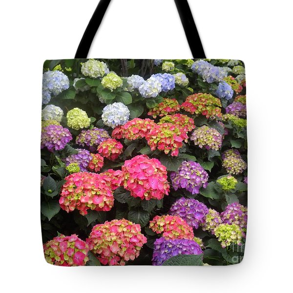 Fifty Shades Of Hydrangea Tote Bag by Lingfai Leung