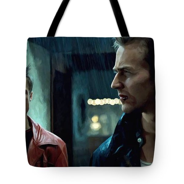 Fight Club #1 Large Size Painting Tote Bag