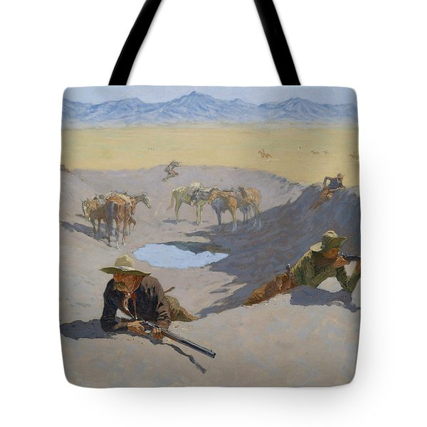 Fight For The Waterhole Tote Bag