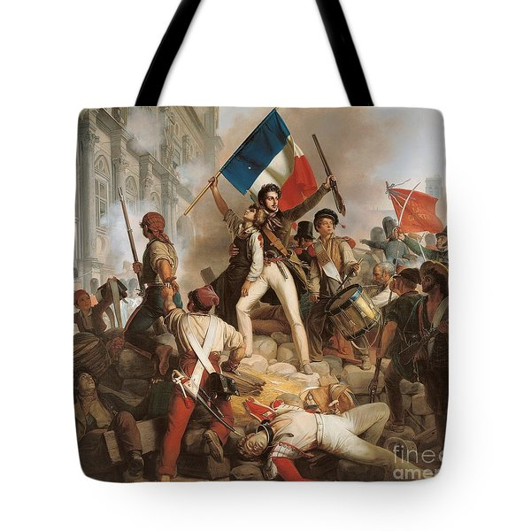 Fighting At The Hotel De Ville Tote Bag by Jean Victor Schnetz