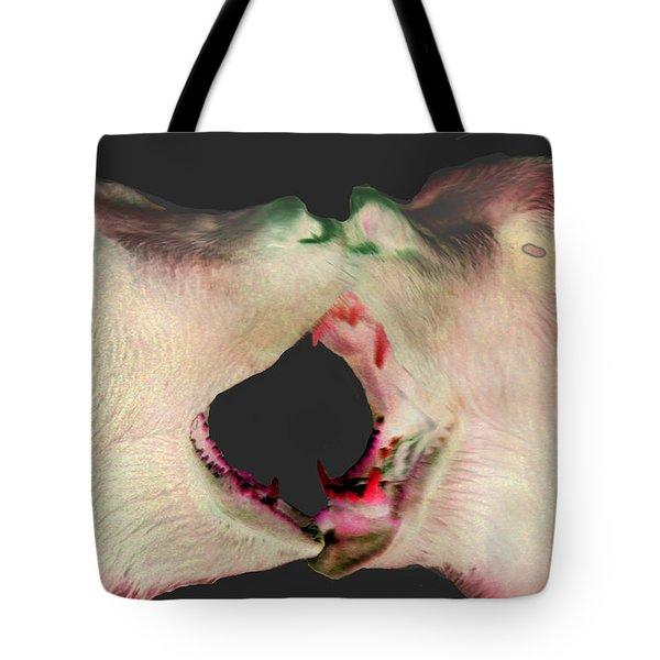 Fighting Bears Tote Bag