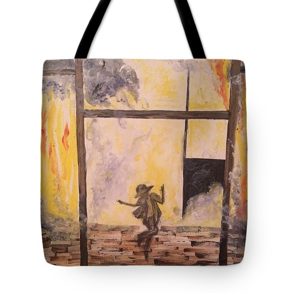 Fighting Fire Tap Dancer Tote Bag