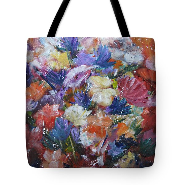 Fighting For Space Tote Bag by Roberta Rotunda