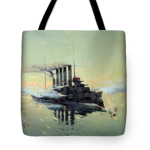 Fighting On July In The Yellow Sea Tote Bag by Konstantin Veshchilov