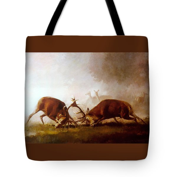 Fighting Stags II. Tote Bag
