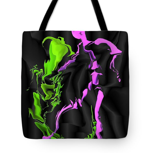 Tote Bag featuring the digital art Fighting The Demon by Kae Cheatham