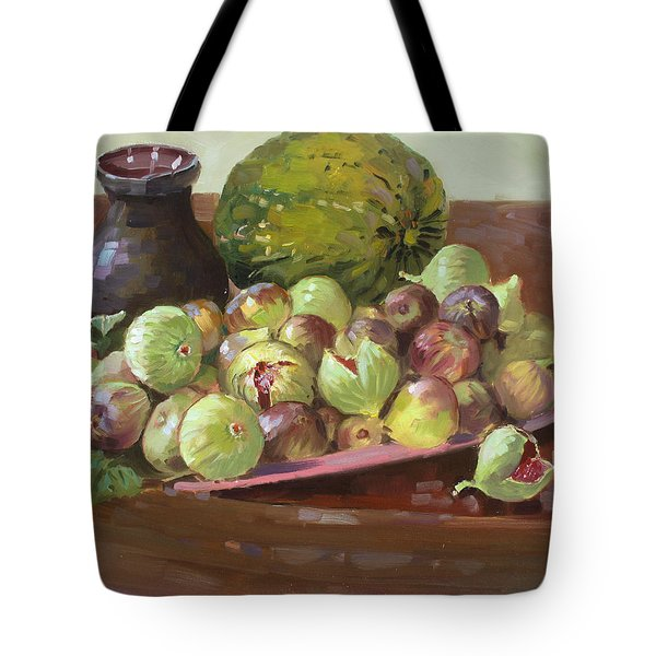 Figs And Cantaloupe Tote Bag by Ylli Haruni