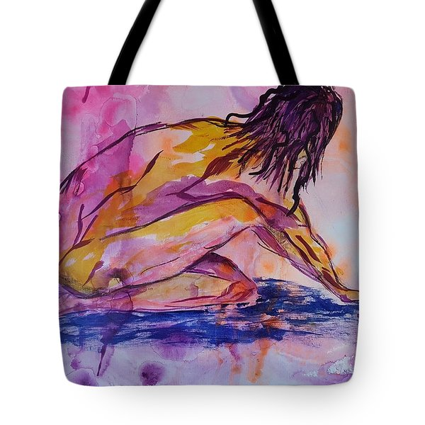 Figurative Abstract Nude 7 Tote Bag by Judi Goodwin