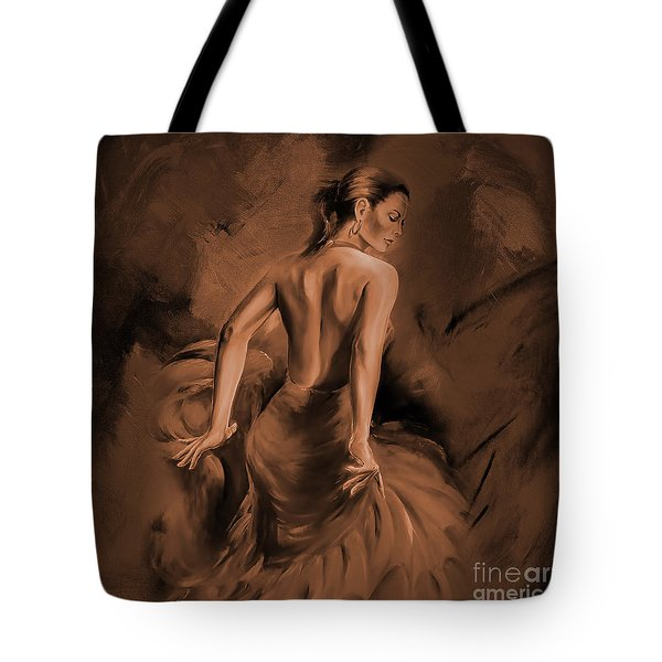 Tote Bag featuring the painting Figurative Art 007dc by Gull G