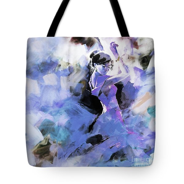 Tote Bag featuring the painting Figurative Dance Art 509w by Gull G