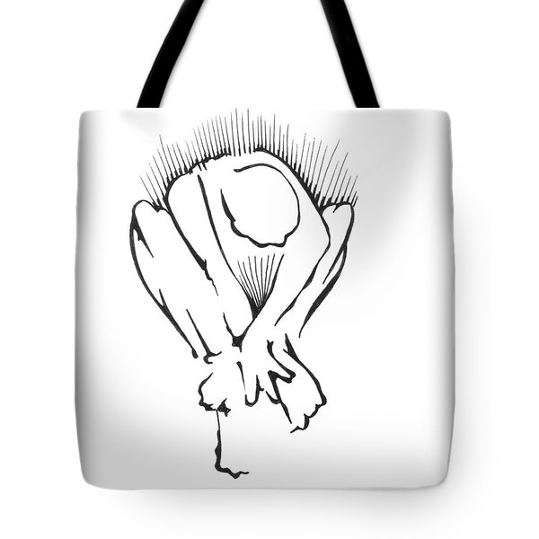 Tote Bag featuring the drawing Figure Iv by Keith A Link