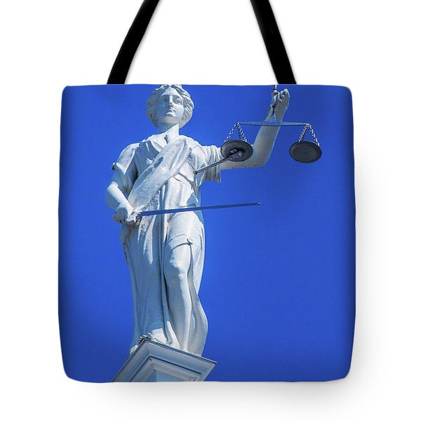 Figure Of Justice Clarion Tote Bag