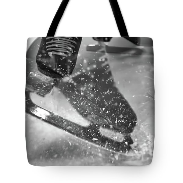Tote Bag featuring the photograph Figure Skating Abstract by Rona Black