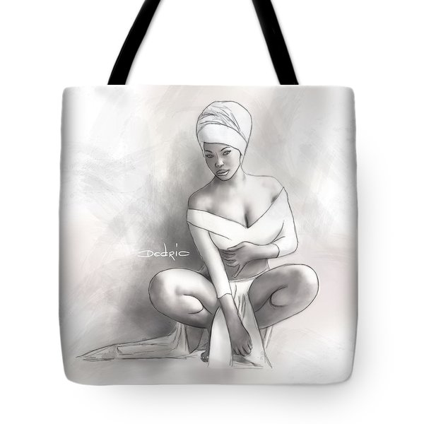 Tote Bag featuring the digital art Figure Study 1 by Dedric Artlove W