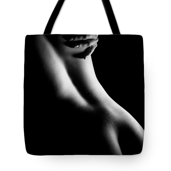 Figure Study With Hand Tote Bag by Joe Kozlowski