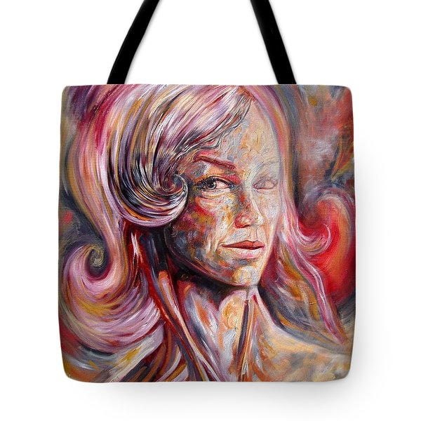 Figure With Long Neck Tote Bag by Darwin Leon