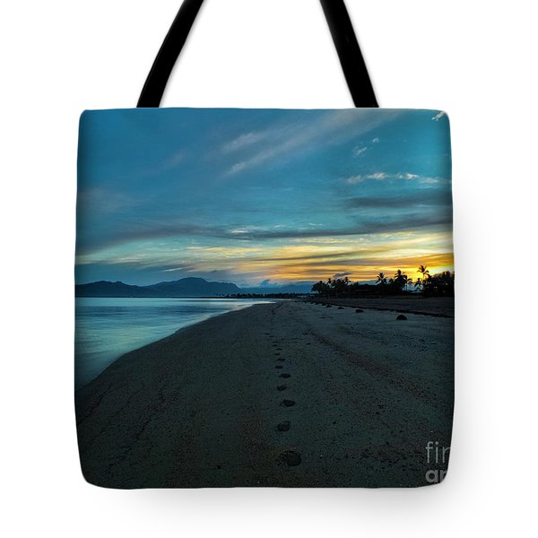 Fiji Dawn Tote Bag by Karen Lewis