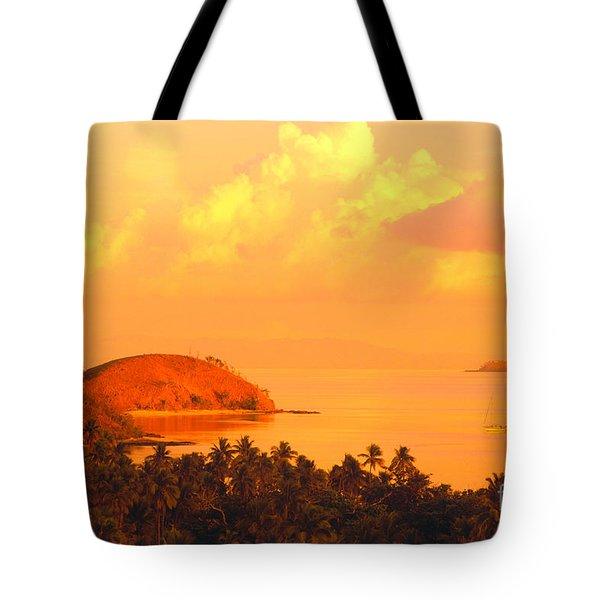 Fiji Mana Island Tote Bag by Dave Fleetham - Printscapes