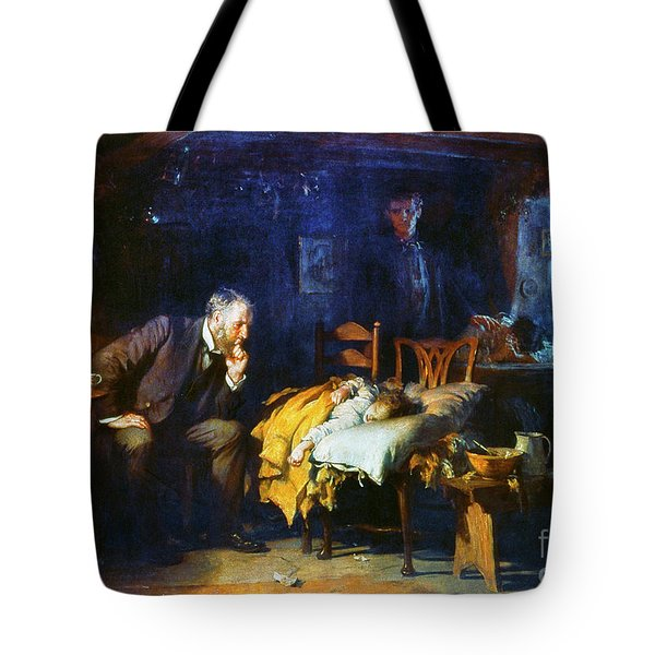 Tote Bag featuring the painting Fildes The Doctor 1891 by Granger