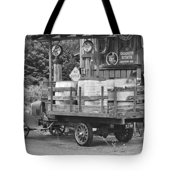 Fill Er Up          B And W Tote Bag