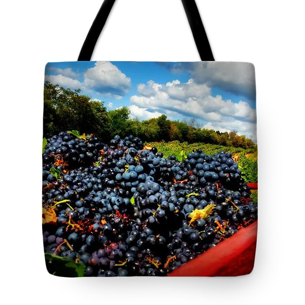 Filling The Red Wagon Tote Bag