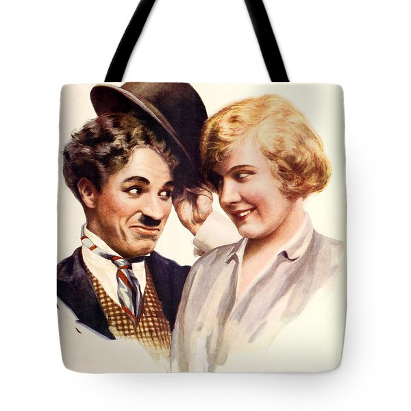 Film Fun Classic Comedy Magazine Featuring Charlie Chaplin And Girl 1916 Tote Bag