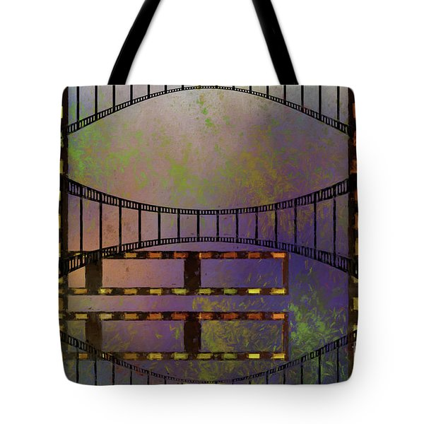 Tote Bag featuring the mixed media Film Is Dead by Jim  Hatch