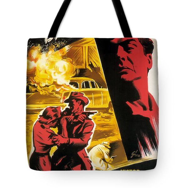 Film Noir Poster   Violent Saturday Tote Bag