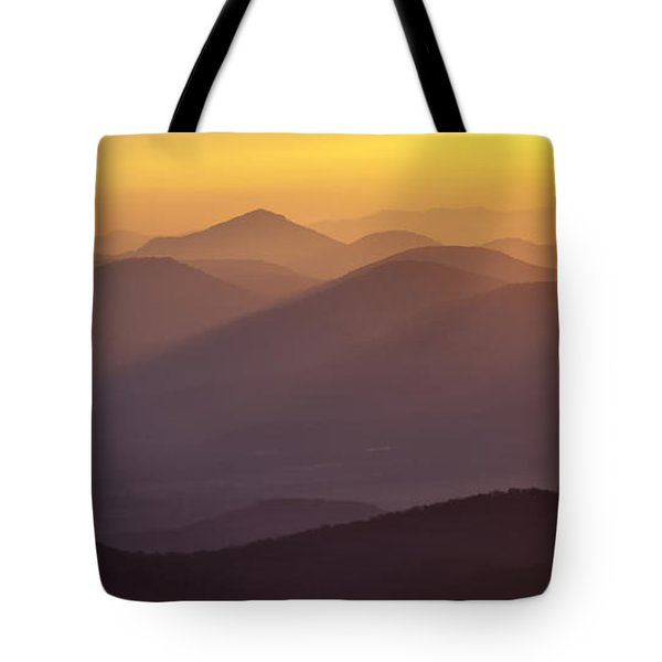 Filtered Light On The Blue Ridge Parkway Tote Bag by Rob Travis