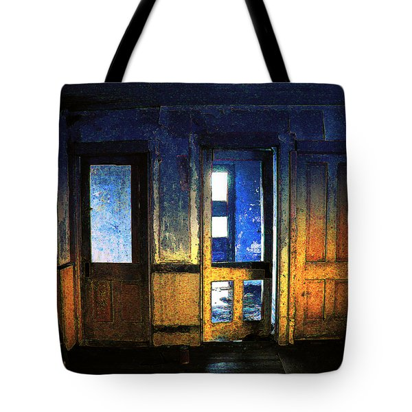 Tote Bag featuring the digital art Final Days - Choices by Stuart Turnbull