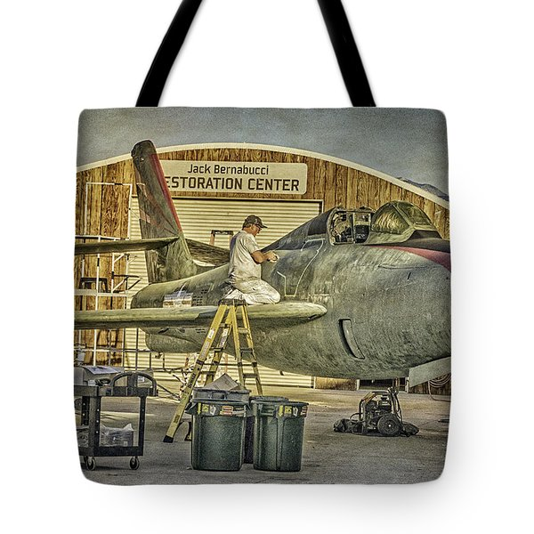 F-84f Thunderstreak Final Touches  Tote Bag