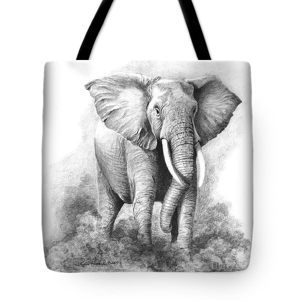 Tote Bag featuring the drawing Final Warning by Phyllis Howard