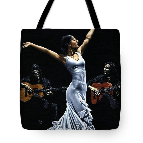Finale Del Funcionamiento Del Flamenco Tote Bag