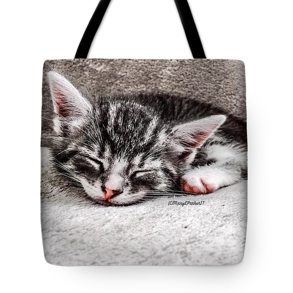 Finally Asleep  Copyright Mary Lee Parker 17  Tote Bag by MaryLee Parker