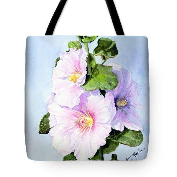 Finally Hollyhocks Tote Bag
