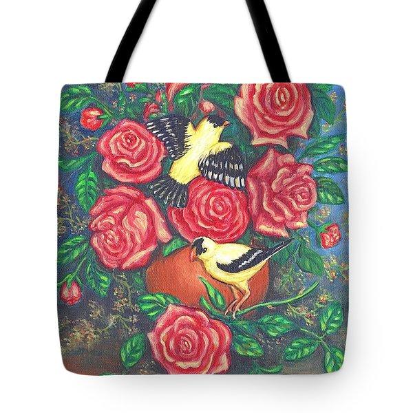 Finch Fancy Tote Bag by Linda Mears
