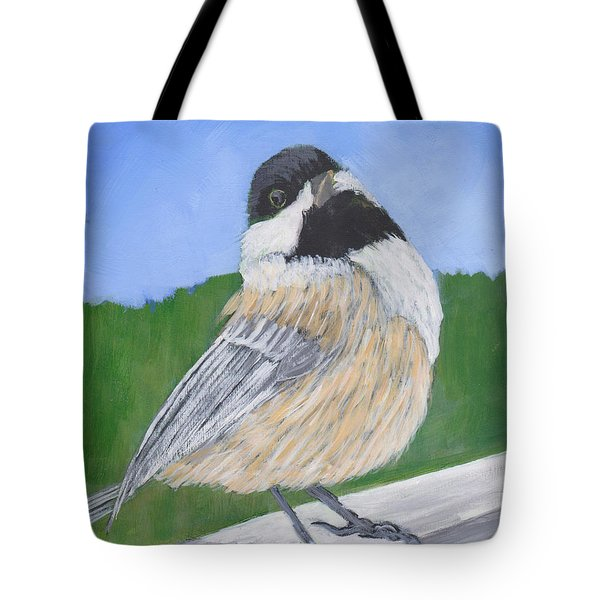 Tote Bag featuring the painting Finch by Patricia Cleasby