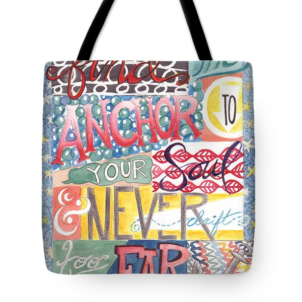 Tote Bag featuring the painting Find Your Anchor by Erin Fickert-Rowland