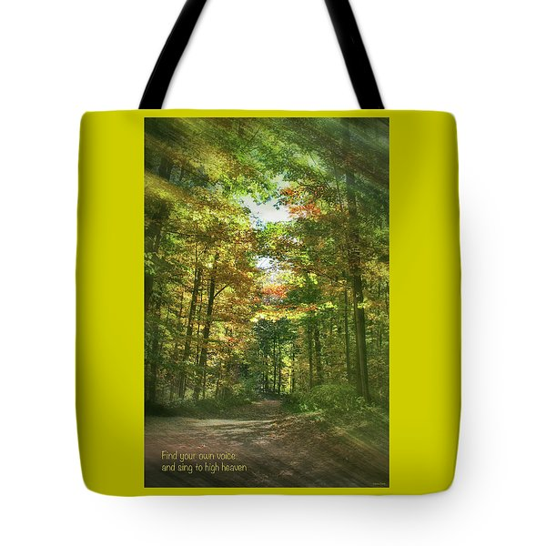 Find Your Own Voice Tote Bag