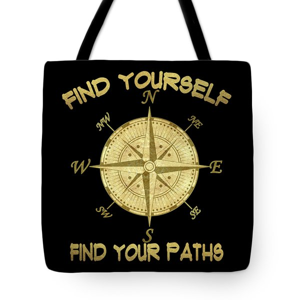 Tote Bag featuring the painting Find Yourself Find Your Paths by Georgeta Blanaru