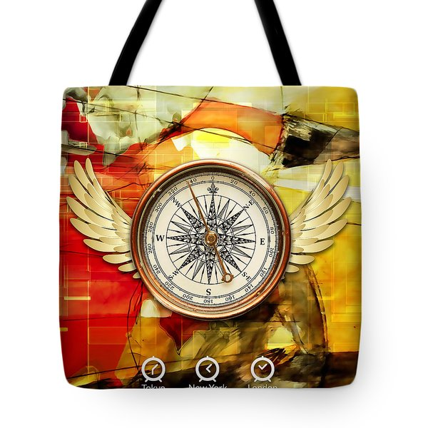 Tote Bag featuring the mixed media Finding Direction by Marvin Blaine