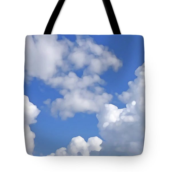 Tote Bag featuring the digital art Finding Focus Sky by Francesca Mackenney