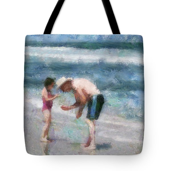 Finding Seashells Tote Bag