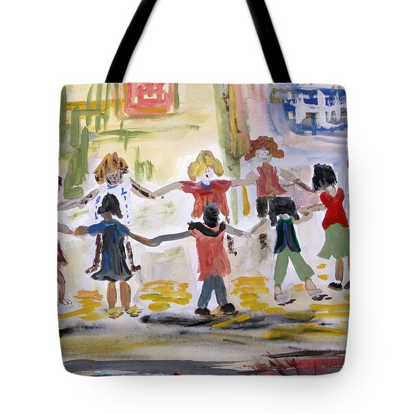 Tote Bag featuring the painting Finding Time To Play by Mary Carol Williams
