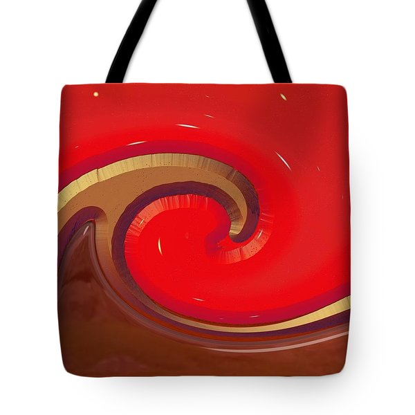 Tote Bag featuring the digital art Finding Water On Mars by Wendy J St Christopher