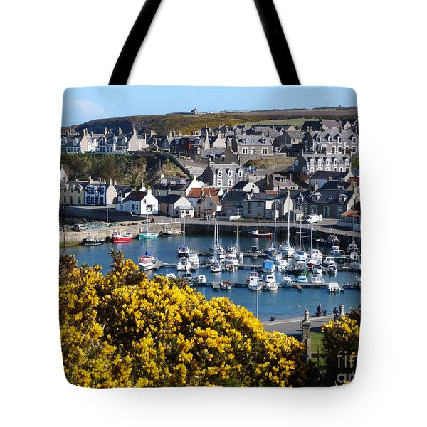 Tote Bag featuring the photograph Findochty Harbour - Spring by Phil Banks