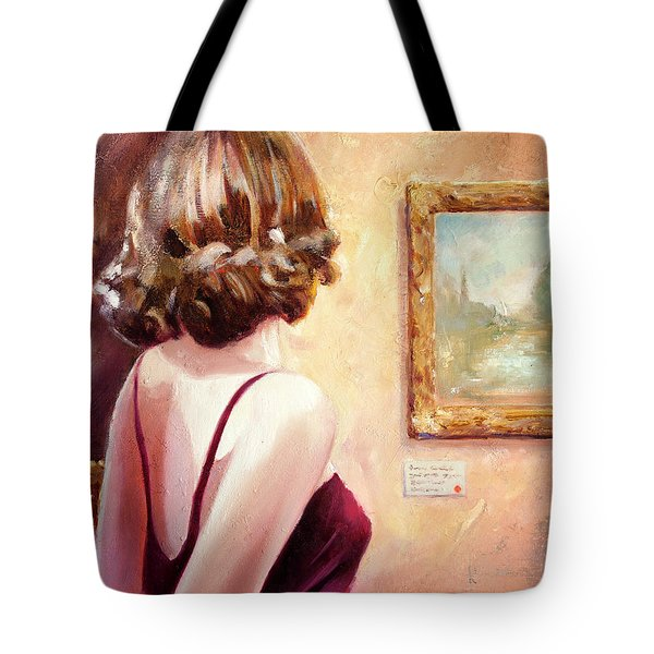Fine Art Gallery Opening Night Tote Bag by Michael Rock