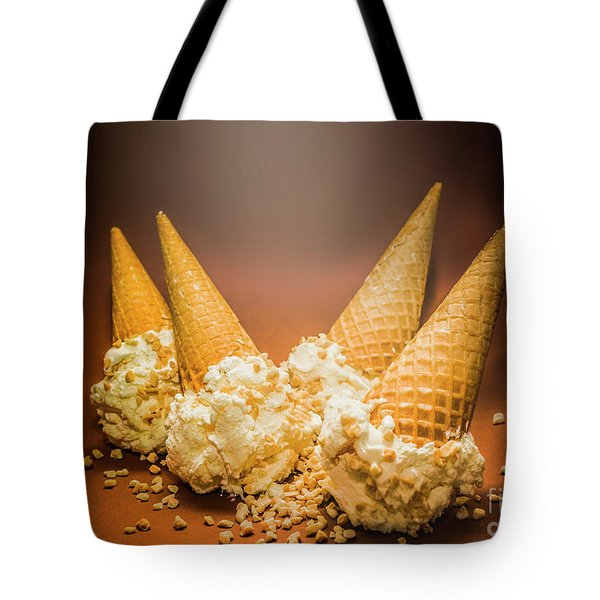 Fine Art Ice Cream Cone Spill Tote Bag