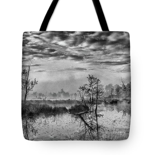 Tote Bag featuring the photograph Fine Art Jersey Pines Landscape by Louis Dallara
